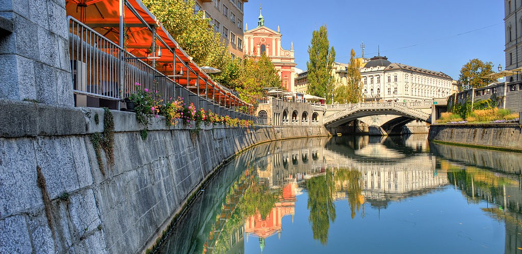 Ljubljana - Ljubljanica river (Photo Mihael Grmek on http://commons.wikimedia.org/wiki/User:Meho29)